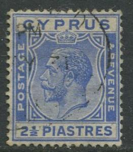 Cyprus - Scott 99 - KGV - Definitives -1924 - Used - Single 2.1/2pi Stamp