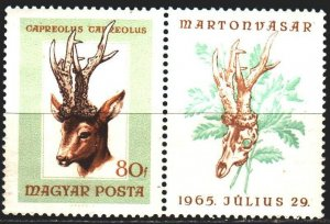 Hungary. 1966. 2258 from the series. Antelope fauna. MNH.