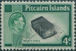 Pitcairn Islands 1940 SG5b 4d Bounty Bible FU