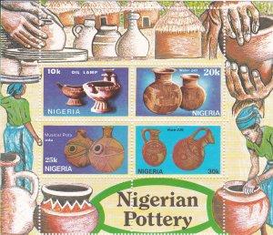 Nigeria MNH S/S 564a Nigerian Pottery