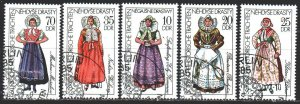 GDR. 1977. 2210-14. National costumes. USED.