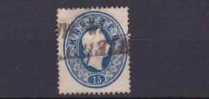 AUSTRIA  1860 - 61    15K   BLUE     USED