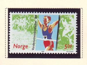 Norway Sc 937 1989 Cross Country Running stamp NH