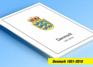 COLOR PRINTED DENMARK 1851-2010 STAMP ALBUM PAGES (186 illustrated pages)