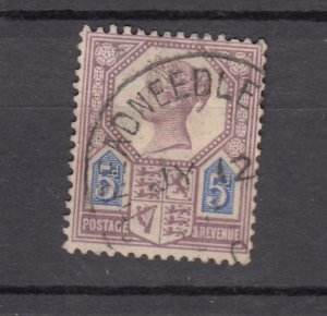 J27527 1887-92 great britain used #118 queen
