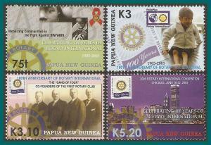 Papua New Guinea 2005 Rotary International, MNH  #1164-1167,SG1066-SG1069,SG1072