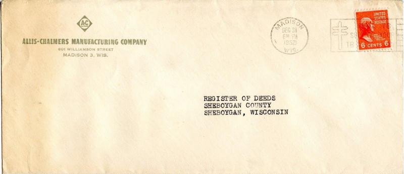 U.S. Scott 811 Solo Prexie On 1st Class Mail Double Weight Cover