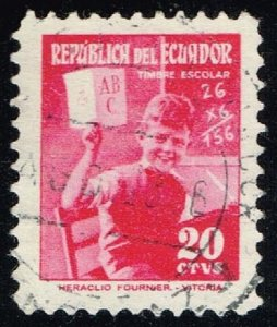 Ecuador #RA73 Young Student at Desk; Used (0.25)