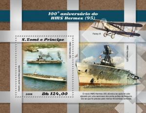 SAO TOME - 2018 - H M S  Hermes - Perf Souv Sheet - MNH