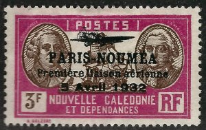 New Caledonia Paris Noumea #204 Mint F-vf w/creases ....French Colonies are Hot!