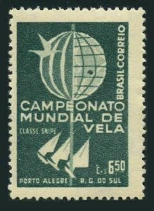 Brazil 898 2 stamps,MNH.Mi 965. World Championship of Snipe Class Sailboats,1959