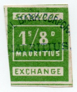 (I.B) Mauritius Revenue : Bill of Exchange 1/8d (Second)
