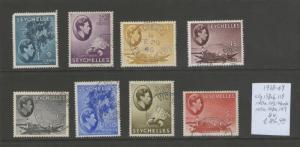 Seychelles 1938 KGVI 138-149 selected FU