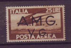 J21515 Jlstamps 1943 italy AMG militar gov,t mh key #1lnc6 occupation bird
