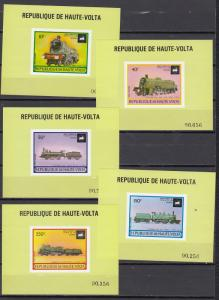 Upper Volta - 1973 Locomotives Deluxe sheets - MNH (2269)
