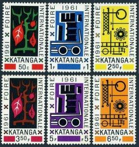 Katanga 66-71,MNH.Michel 69-74. Fair 1961.Abstract tree,vehicle;Gear.