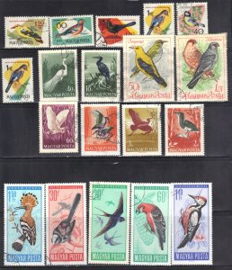 HUNGARY STAMP LOT #24 BIRDS   SEE SCAN