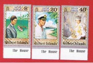 Gilbert Islands #293-295  MNH OG  Jubilee  Free S/H