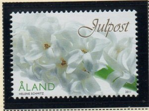 Aland Finland Sc  324 2011  Christmas stamp mint NH