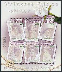 Micronesia 496 MNH Princess Diana, Flowers