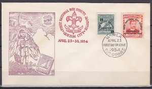 Philippines, Scott cat. 608-609. 1st National Scout Jamboree. First day cover. ^