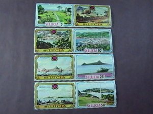 ST. LUCIA # 296-299-MINT NEVER/HINGED---COMPLETE SET OF PAIRS---1971