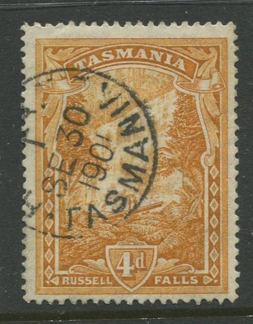 Tasmnia  #91  FU  1899 Single 4d Stamp