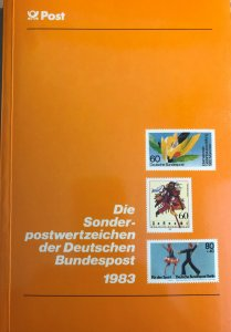 Dt. Bundespost 1983 BRD and Berlin MNH Commemoratives Complete Year in booklet