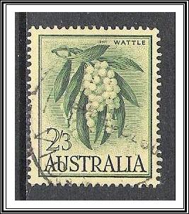 Australia #328 Wattle Flower Used