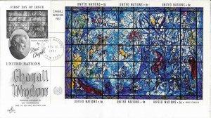 United Nations, New York #179, 6c Chagall Window, souvenir sheet (2)