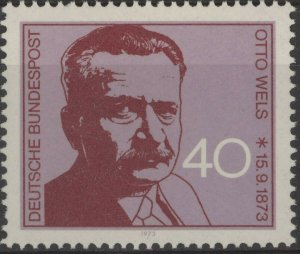 Stamp Germany Sc 1124 1973 Otto Wels Leader Social Democratic Party Politic MNH