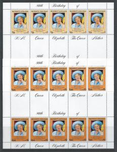 Bangladesh #197-8 NH Queen Mother 80th Birthday - Sheetle...