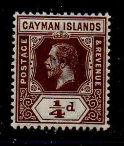 Cayman Islands Sc 32 1913 1/4d brown George V stamp mint