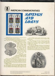 1981 Sc CP142 Savings and Loans USPS commemorative panel Sc 1911