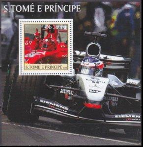 2003 Sao Tome and Principe 2287/B460 Cars / Formula 1 Car Racing and driver 11,0