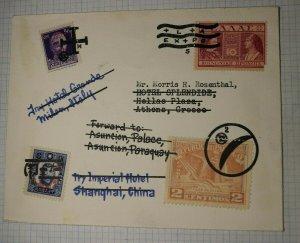 Worldwide Courtesy Cancel Forwarded Postal Marking Philatelic Creation Cover