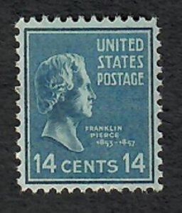 819 Franklin Pierce F-VF MNH single