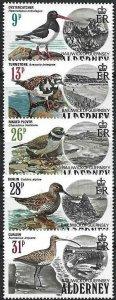 1984 Alderney Birds, Uccelli, Oiseaux, Sea Birds complete set VF/MNH! CAT 25$