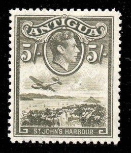 Antigua 1938 KGVI  5/- St John's Harbour SG 107 mint.