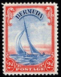 UK STAMP BERMUDA 1938 Landscapes and King George VI MH/OG 2P RED $1