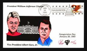 Clinton Gore 1993 Inauguration Cover / Pugh Cachet (165 of 191) - Z14539