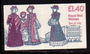 Great Britain Sc BK555 £1.40 Womens Costumes stamp bklt