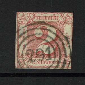 Thurn and Taxis SC# 11, Used, Hinge Rem (Noted Mi# 16), w/ 291 in Cancel - S3776