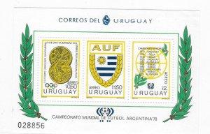 Uruguay 1978 World Cup Soccer Championship Argentina Sc C434 S/S MNH C5