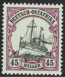 GERMAN EAST AFRICA 1905 YACHT 45H NO WMK MNH **