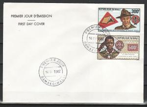 Mali, Scott cat. C462-C463. Scouting Year with Baden Powell. First day cover.