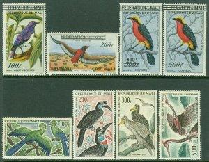 EDW1949SELL : MALI 1960-65 Scott #C5-8, 25-28 Birds. Cplt sets VF MOG LH Cat $73