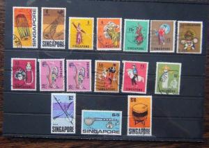 Singapore 1968 - 1973 set to $10 Used SG101 - SG115