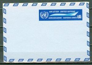 UNITED NATIONS 1968 CONCORDE (65fr) AEROGRAM MINT