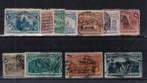 USA #230 - #240 Used Fine - Very Fine Set